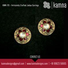 Intricately Crafted Jadau Earrings..