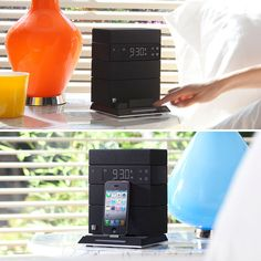 Love the SoundRise, an alarm clock that charges all of your devices and plays your favorite tunes.