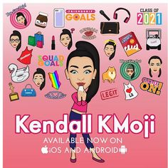 """So excited to announce that my emoji app """"Kendall KMoji"""" is live in all app stores! I have been working so hard on this. Go download now! Link for iOS in my bio also available in the android store! Hope you love it as much as I do! #KendallKMoji"""