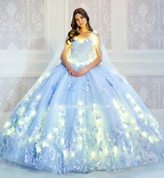 Tulle Balls, Tulle Ball Gown, Blue Ball Gowns, Pretty Quinceanera Dresses, Pageant Dresses, Quincenera Dresses Blue, Quinceanera Themes, Blue Dresses, Quinceanera Collection