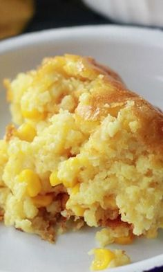 Sweet Corn Spoonbread1 (8.5-ounce) package JIFFY Corn Muffin Mix1 (14.75-ounce) can cream style corn1 (15-ounce) can whole kernel corn, drained1/2 cup (1 stick) butter, melted1 cup sour cream3 eggs1/2 teaspoon salt - 375 for 35 min