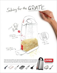 World Kitchen / Pyrex: Grater | Ads of the World™