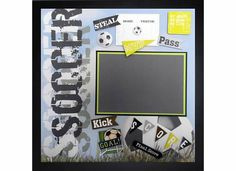 FINAL SCORE Premade Memory Album Page (Gallery Wood Box Frame Sold Separately) by theshadowbox on Etsy