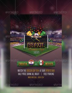 Brazil Soccer Cup Flyer by Pushpalata Pradhan, via Behance