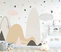 Flower Wall Decals, Nursery Wall Decals, Wall Murals, Playroom Mural, Wall Art, Kids Wall Decals, Alphabet Poster, Woodland Nursery Decor, Terrazzo
