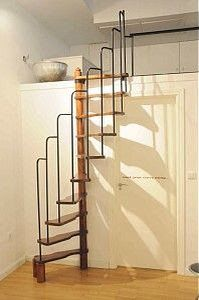 Tiny House Stairs Spiral Staircases Loft Spaces 26 Ideas For 2019 Tiny House Stairs, Loft Stairs, Tiny House Living, Living Room, House Staircase, Attic Staircase, Casa Loft, Stair Makeover, Staircase Design