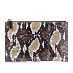 FLAT SNAKESKIN CLUTCH by Fendi  Bring out your animal instincts!