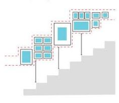Staircase wall design.