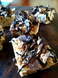 Butterfinger Rice Krispie Treats!!!! Must make skinny for summer picnics!!!