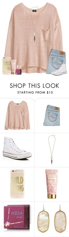 """""""wild thing"""" by ashtongg117 ❤ liked on Polyvore featuring H&M, Abercrombie & Fitch, Converse, Kendra Scott, AERIN and Hoola"""