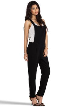 Line & Dot Tailor Overall in Black