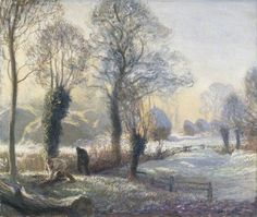 Winter Morning by George Clausen 1926 Oil on Canvas (Manchester City Galleries)