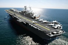 Navy Adopts Hybrid-Electric Amphibious Assault Ships  U.S. Navy is incorporating fuel-efficient hybrid-electric propulsion technology onto several of its next-generation big-deck amphibious assault ships, the service's top civilian said.The USS America (LHA-6) and the USS Tripoli (LHA-7).