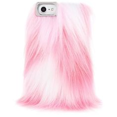 Pink Fluffy Case (115 PEN) ❤ liked on Polyvore featuring accessories and tech accessories