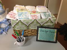Late night diapers #baby shower