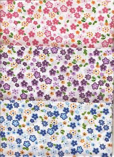 Small Floral Print Polycotton Fabric/Material- 3 variations | eBay
