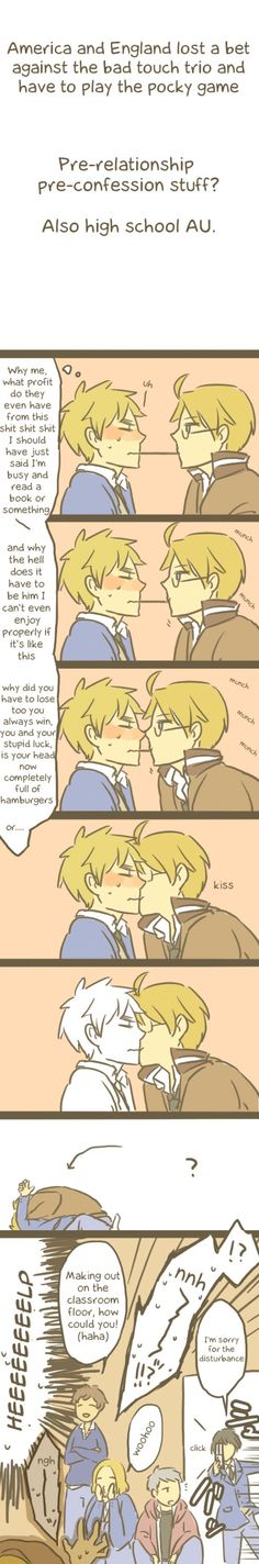 Hetalia - USxUK see France helps the ship hahaha I love the btt so much Now I have another reason. And Japan might as well be our fandom