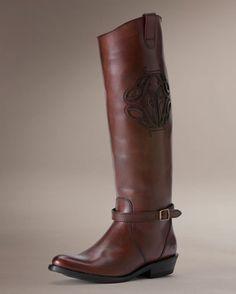 Women's Rider Logo Boot - Redwood  My dream boots :)
