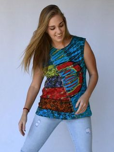 Stand out from the crowd this summer in our tie dyed hippie tops Hippie Clothes Online, Hippie Clothing Stores, Online Clothing Stores, Hippie Tops, Hippie Outfits, Tie Dyed, Summer Outfits, Tank Tops, Crowd