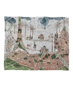 Paris Map Fleece Throw by DENY Designs #zulily #zulilyfinds