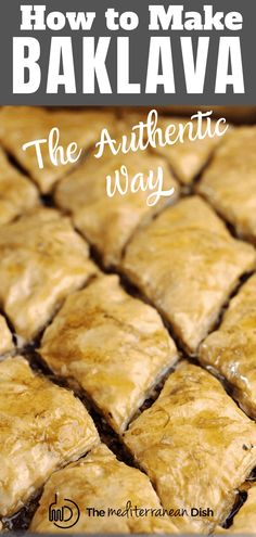mediterranean recipes Cant get enough of your local Greek restaurants baklava? This tutorial is all you need to make the BEST perfectly flaky baklava with a delicious nut mixture Greek Desserts, Just Desserts, Homemade Syrup, Mediterranean Dishes, Middle Eastern Recipes, Desert Recipes, Chocolate Recipes, Baking Recipes, The Best