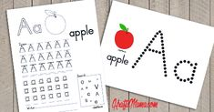 English Alphabet Printable Free A for Apple!