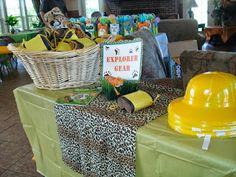 Cute ideas for a safari or jungle themed birthday.