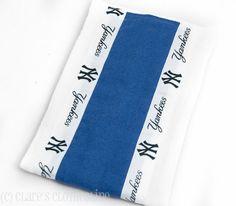 Baby Burp Cloth  New York Yankees Baseball by ClaresClothesline, $6.75