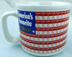 America's Favorite Chicken Noodle Soup Flag promo Mug by Campbells Food #Campbells