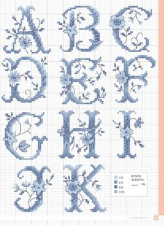 / Фото - Piccoli Motivi a Punto Croce Speciale 2012 2018 - Chispitas Monogram Cross Stitch, Just Cross Stitch, Cross Stitch Borders, Cross Stitch Baby, Cross Stitch Alphabet, Counted Cross Stitch Patterns, Cross Stitch Charts, Cross Stitch Designs, Cross Stitching