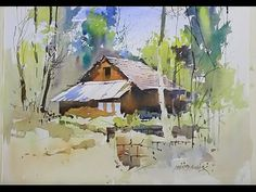 Line and Wash Watercolor Painting Demo for Beginners - YouTube