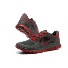 reputable site 88b57 cbb7e Nike Free Run 3 Mens Running Shoes - Gray Red Nike Free Run 3,