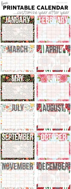 November Printable Calendar 4 Calendar Pinterest Printable - Perpetual Calendar Template