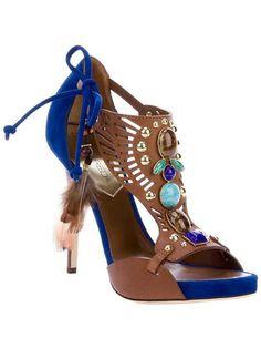 new concept e35e8 e9690 Indian style Pocahontas, Blue Sandals Heels, Shoes Heels, Shoe Boots, Dress  Sandals