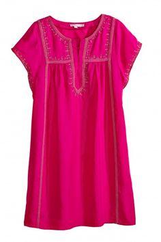 Tonsiya Embroidered Silk Dress   | Calypso St. Barth