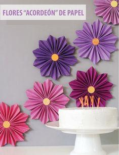 "Flores de papel ""Acordeón"""