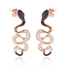 Ember Coiled Snake Earrings