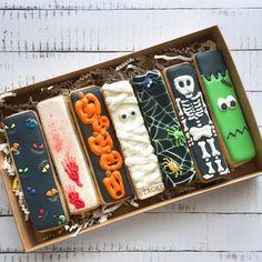 The Cookie Stache Cat Cookies, Fancy Cookies, Cut Out Cookies, Custom Cookies, Holiday Cookies, Finger Cookies, Halloween Cookies Decorated, Halloween Sugar Cookies, Halloween Desserts