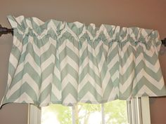 Blue Curtain Valance for Windows - Crabtree Collection - Medium Blue Chevron (16 x 60) ** More info could be found at the image url. (This is an affiliate link and I receive a commission for the sales)