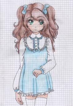 Lolita draw work pencil girl