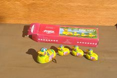Vintage Wind Up Duck Family Tin Toy. Vintage Working Chinese Toy in Original Box. by GoldenGully on Etsy