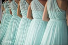 Bridesmaids  |  Bridesmaids dresses  |  Bridal party  |  Sea foam bridal party gowns |  Wedding ceremony  |  Aislinn Kate Photography