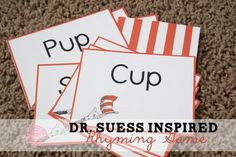 Free Printable: Dr. Suess Inspired Rhyming Game