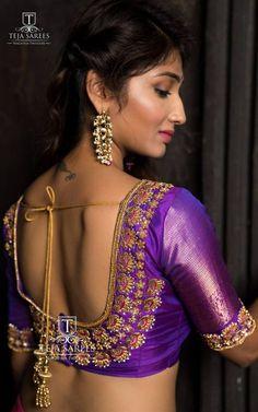 Wedding Saree Blouse Designs, Half Saree Designs, Silk Saree Blouse Designs, Choli Designs, Blouse Patterns, Blouse Back Neck Designs, Techniques Textiles, Blouse Models, Hyderabad