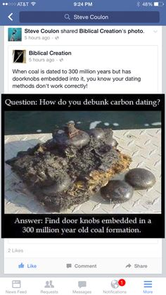 what does the bible say about carbon dating