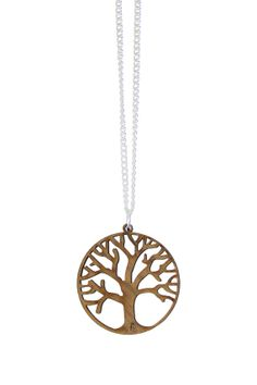 Tree of Life Wood Necklace by BizzibDesign1 on Etsy, $20.00