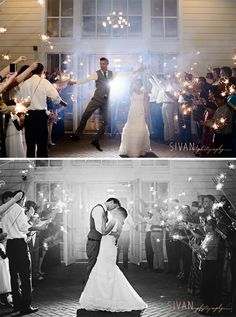 Grand Exit Sparklers | Wedding Photography | Sivan Photography | Orlando Wedding Photographer | Lake Mary Events Center