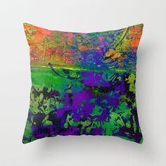colors and textures Throw Pillow