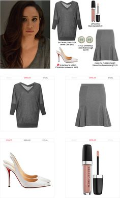 Steal the style on Spylight. Office Fashion, Work Fashion, Scandal Fashion, Suits Usa, Fashion Boards, Classic Style, My Style, Meghan Markle, Office Wear