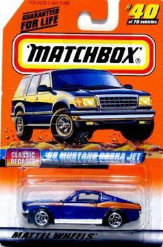 matchbox blue 68 mustang cobra jet classic decade 40 1997 by matchbox. $3.00. matchbox blue 68 mustang cobra jet classic decade 40 1997